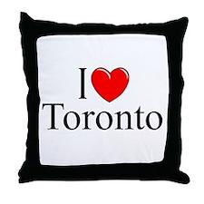 """I Love Toronto"" Throw Pillow"