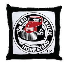 Black&RedSpotLogo Throw Pillow