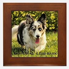 More Wag - Less Bark Framed Tile
