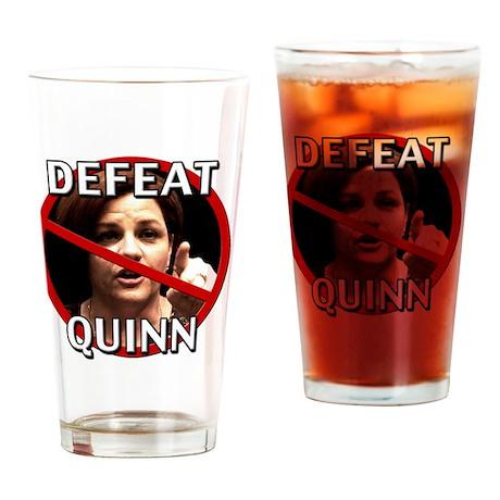 Defeat Christine Quinn Drinking Glass