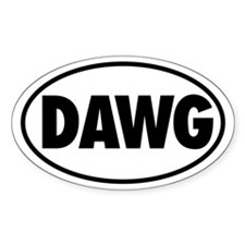 DAWG Oval Decal