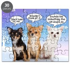 Funny Chihuahua Christmas Puzzle