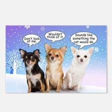 Funny Chihuahua Christmas Postcards (Package of 8)
