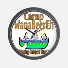 Camp WanaBeerEh Wall Clock
