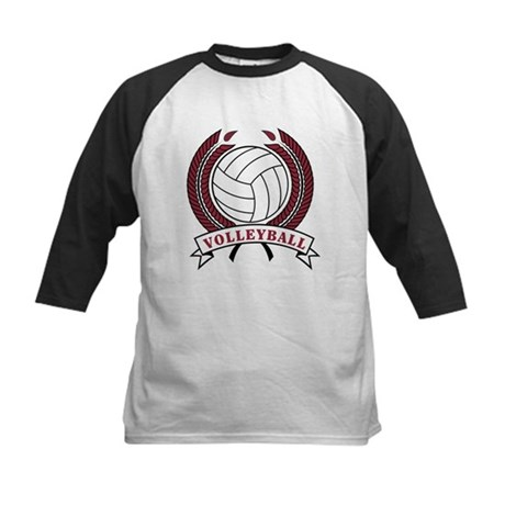 Volleyball Red Trophy Kids Baseball Jersey