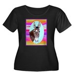 Horses and Mules Women's Plus Size Scoop Neck Dark