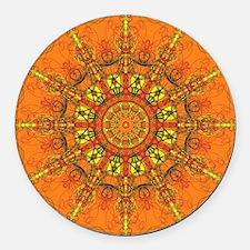 Harmony in Orange Round Car Magnet
