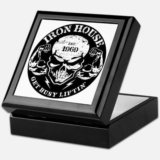 Iron House Muscle Skull Keepsake Box