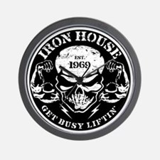 Iron House Muscle Skull Wall Clock