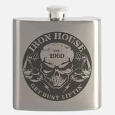 Iron House Muscle Skull Flask