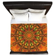 Harmony in Orange King Duvet