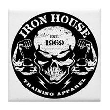 Iron House Muscle Skull Tile Coaster
