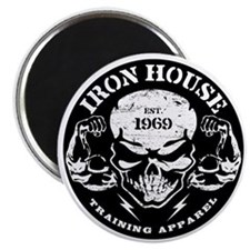 Iron House Muscle Skull Magnet