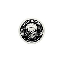 Iron House Muscle Skull Mini Button