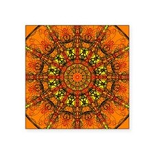"Harmony in Orange Square Sticker 3"" x 3"""