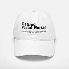 Retired Postal worker talk about mail Baseball Baseball Cap