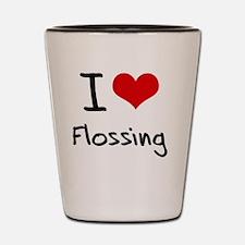 I Love Flossing Shot Glass