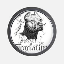 The Pit Bull Dog Father Wall Clock