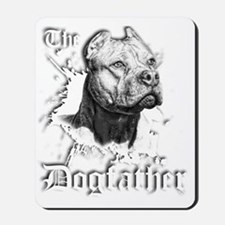 The Pit Bull Dog Father Mousepad
