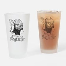 The Pit Bull Dog Father Drinking Glass