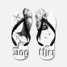 The Pit Bull Dog Father Flip Flops