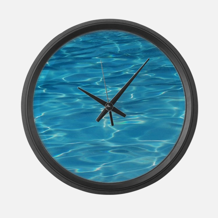 Blue Pool Large Wall Clock