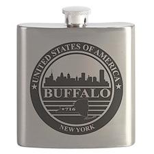 Buffalo logo black and white Flask