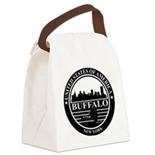 Buffalo logo black and white Canvas Lunch Bag