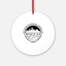 Dallas logo white and black Round Ornament