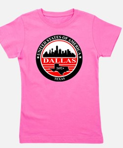 Dallas logo black and red Girl's Tee
