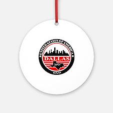 Dallas logo black and red Round Ornament