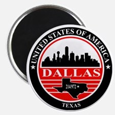 Dallas logo black and red Magnet