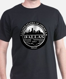Dallas logo black and white T-Shirt