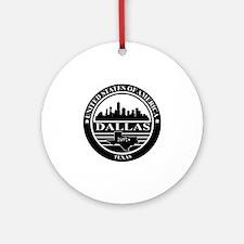 Dallas logo black and white Round Ornament