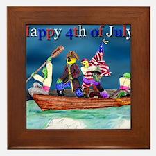 July4 Holiday Card Framed Tile