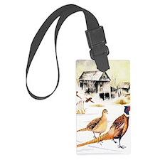 Pheasants at the Farm Luggage Tag