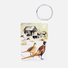 Pheasants at the Farm Keychains