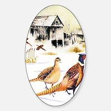 Pheasants at the Farm Decal