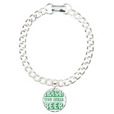 Irish You Were Beer Curl Charm Bracelet, One Charm