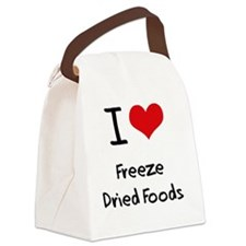 I Love Freeze Dried Foods Canvas Lunch Bag