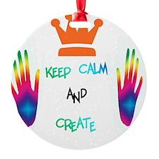 keep calm and create Ornament