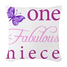 One Fabulous Niece Woven Throw Pillow