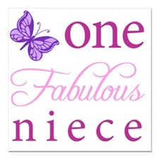 "One Fabulous Niece Square Car Magnet 3"" x 3"""