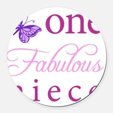 One Fabulous Niece Round Car Magnet