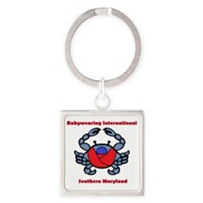 BWI Southern Maryland crab logo Square Keychain