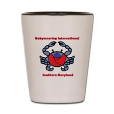 BWI Southern Maryland crab logo Shot Glass