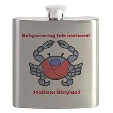 BWI Southern Maryland crab logo Flask