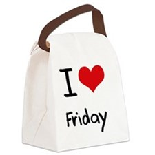 I Love Friday Canvas Lunch Bag