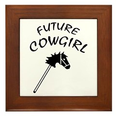 Future Cowgirl Framed Tile