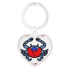 Crab Logo Heart Keychain